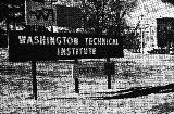 Washington Technical Institute -- WTI Sign (Fall)