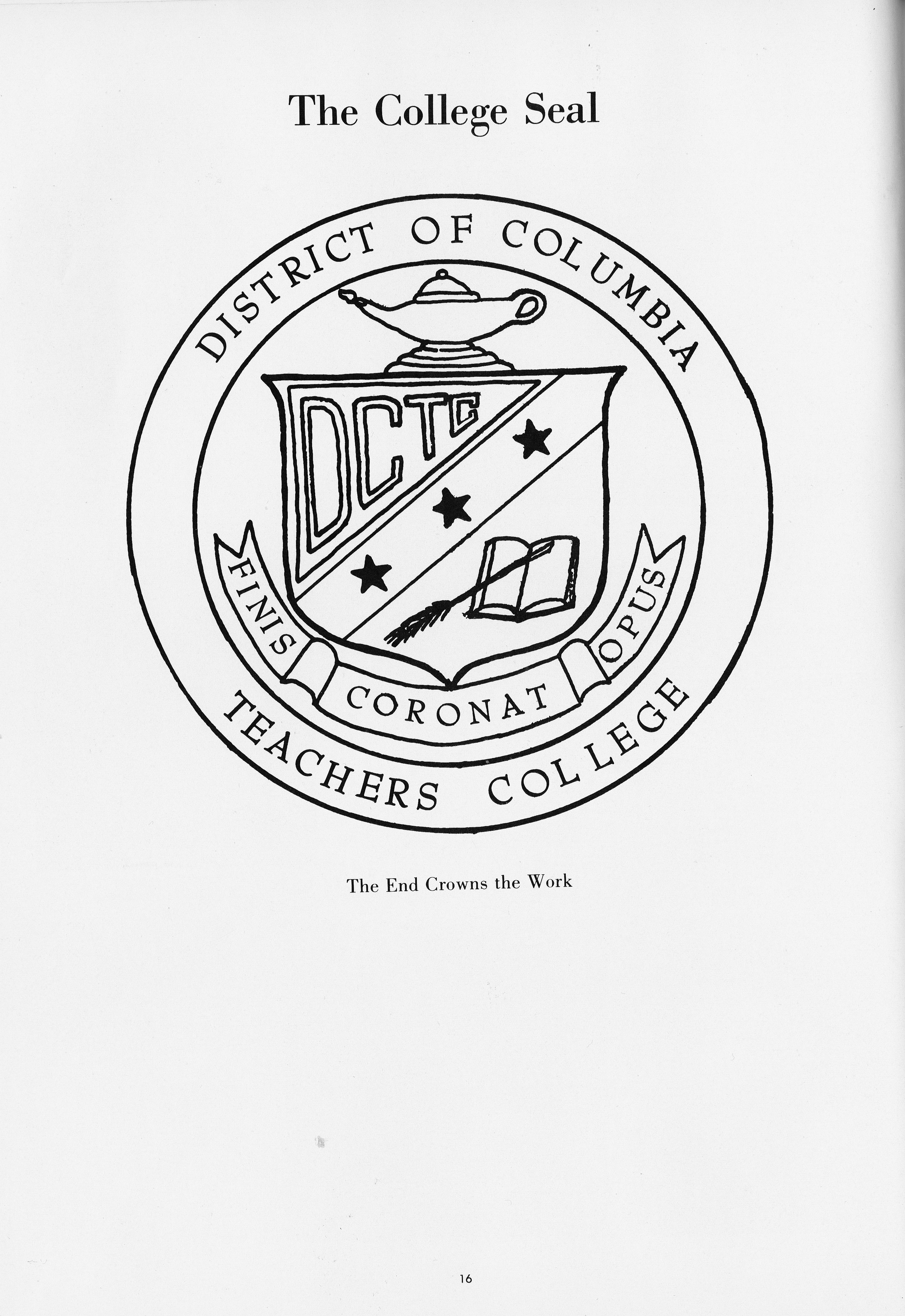 District of Columbia Teachers College – College Seal