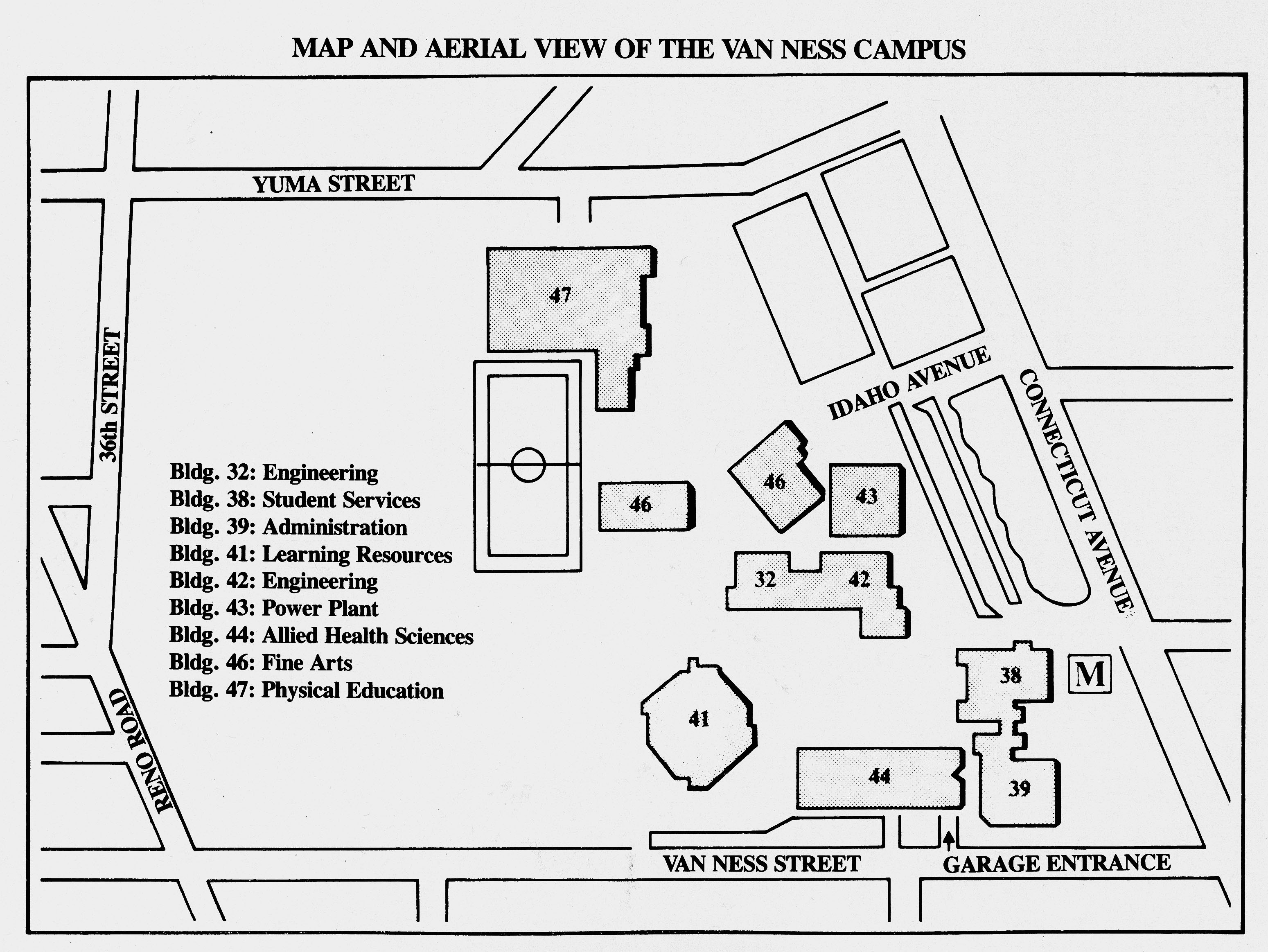 University of the District of Columbia – Map of the UDC Van Ness Campus, 1985.