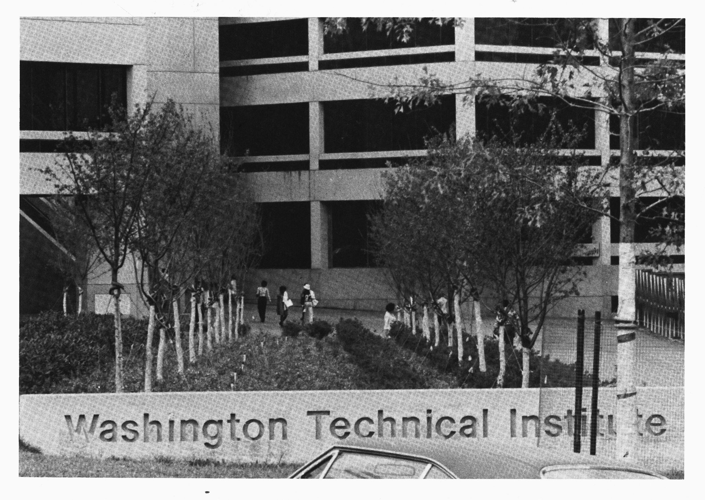 Washington Technical Institute -- New WTI Building (with sign)