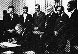 Signing Ceremony of Land Grant Status bill (1968)