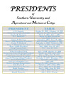 1880 History of Southern University Presidents