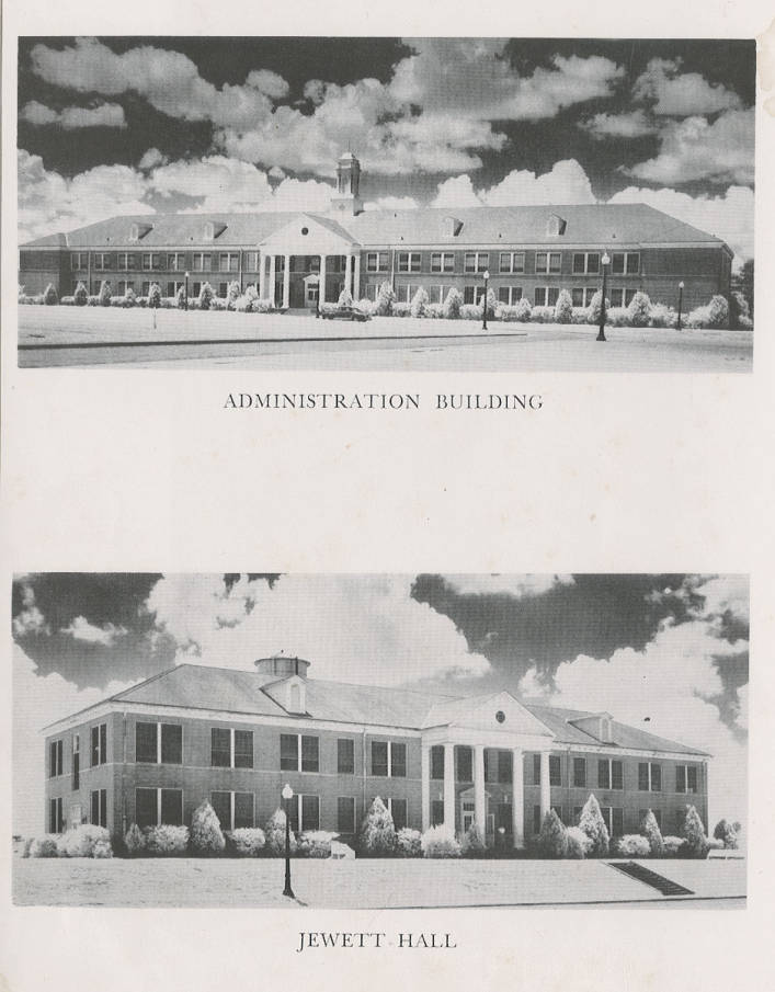 Grambling State University 1951 Administration Building and Jewett on
